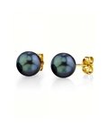 7.5-8.0mm Black Akoya Pearl Stud Earrings - Third Image
