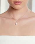 South Sea Pearl Dangling Diamond  Pendant - Model Image