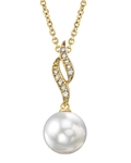 South Sea Pearl & Diamond Suzanna Pendant - Model Image
