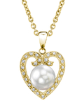 South Sea Pearl & Diamond 9mm Heart Shaped Pendant - Model Image