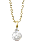 South Sea Pearl & Diamond Alyssa Pendant - Model Image