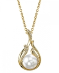 South Sea Pearl & Diamond Layla Pendant - Model Image