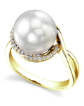 South Sea Pearl & Diamond Summer Ring - Model Image