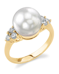 South Sea Pearl & Diamond Sea Breeze Ring - Model Image