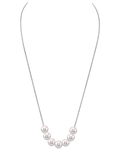 Japanese Akoya Pearl  14K Gold Tincup Celeste Necklace