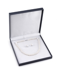 7-8mm Freshwater Choker Length Pearl Necklace & Earrings - Fourth Image