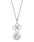 Freshwater Pearl & Diamond Lacy Pendant