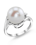 Freshwater Pearl & Diamond Sia Ring