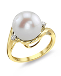 Freshwater Pearl & Diamond Sia Ring - Model Image