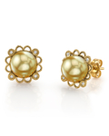Golden South Sea Pearl Lea Earrings
