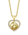 Golden South Sea Pearl & Diamond Amour Pendant