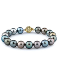 10-11mm Tahitian South Sea Multicolor Pearl Bracelet - AAAA Quality - Model Image