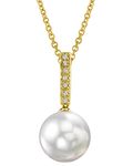 South Sea Pearl Dangling Diamond  Pendant - Third Image
