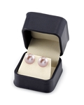 13mm Pink Freshwater Pearl Stud Earrings - Third Image