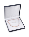 7-8mm Pink Freshwater Choker Length Pearl Necklace & Earrings - Third Image