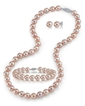 7-8mm Pink Freshwater Pearl Necklace, Bracelet & Earrings