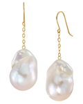 Freshwater Baroque Pearl Sharon Earrings - Model Image