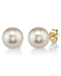 10mm White Freshwater Pearl Stud Earrings - Third Image