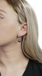 Tahitian South Sea Pearl Mary Earrings - Model Image
