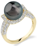 Tahitian South Sea Pearl Sparkling Jewel Ring - Third Image