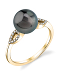 Tahitian South Sea Pearl & Diamond Callie Ring - Model Image