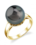 Tahitian South Sea Pearl Laurel Ring - Model Image