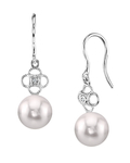 Akoya Pearl & Diamond Lacy Earrings