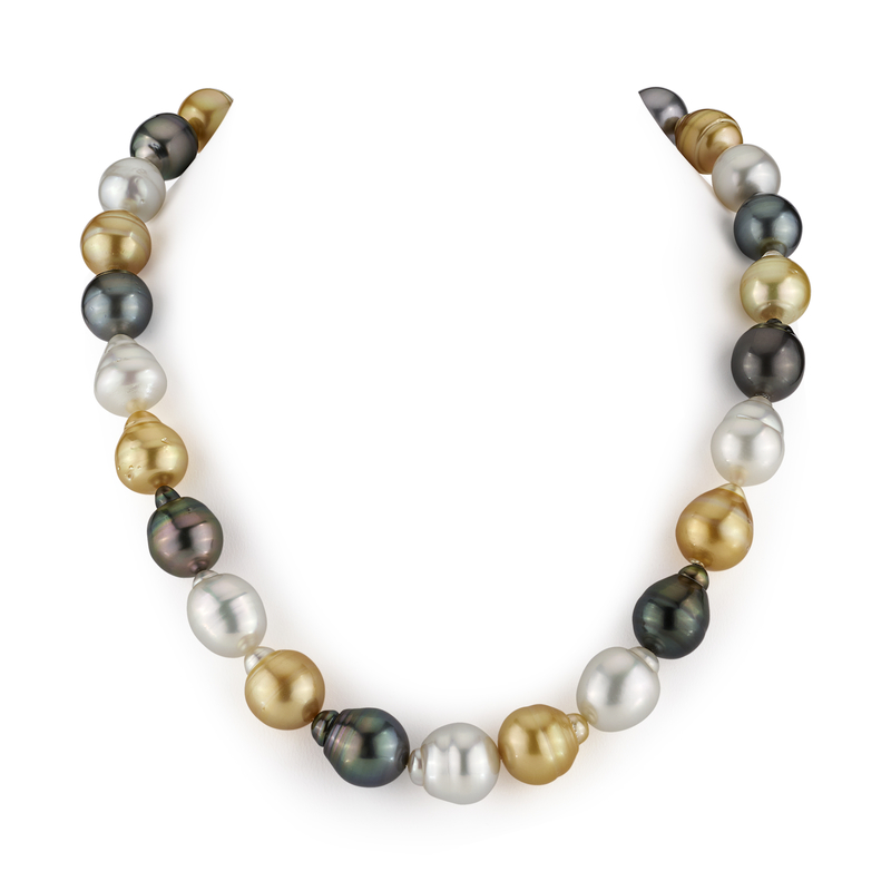 12-14mm South Sea Multicolor Baroque Pearl Necklace