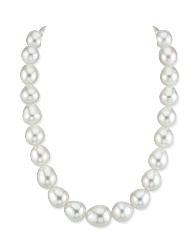 12-15mm White South Sea Baroque Pearl Necklace