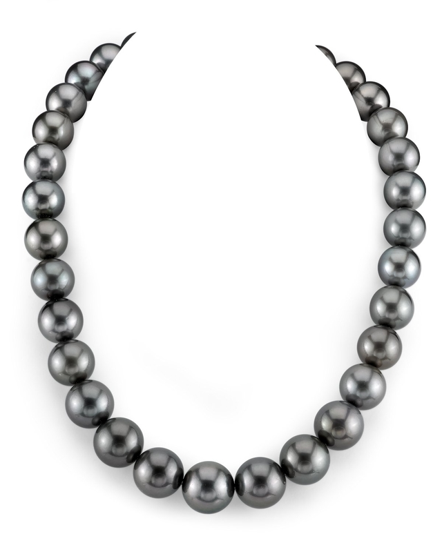 13-15mm Tahitian South Sea Pearl Necklace - AAA Quality