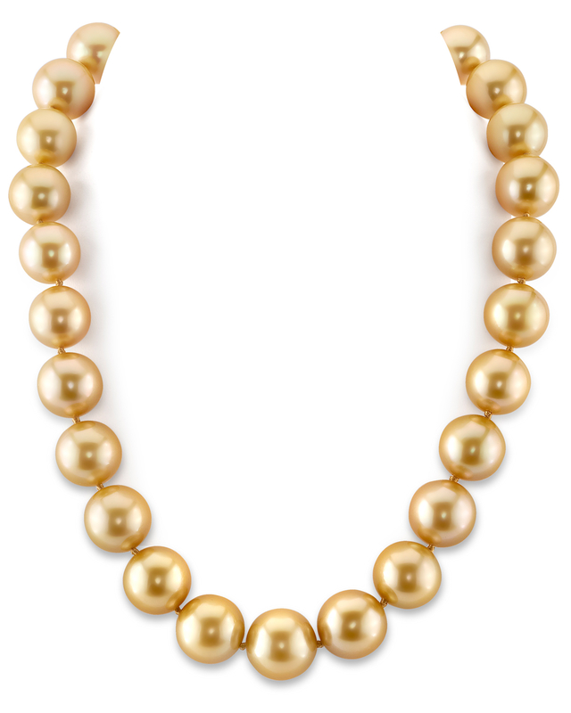 14-16mm Dark Golden South Sea Pearl Necklace-AAAA Quality