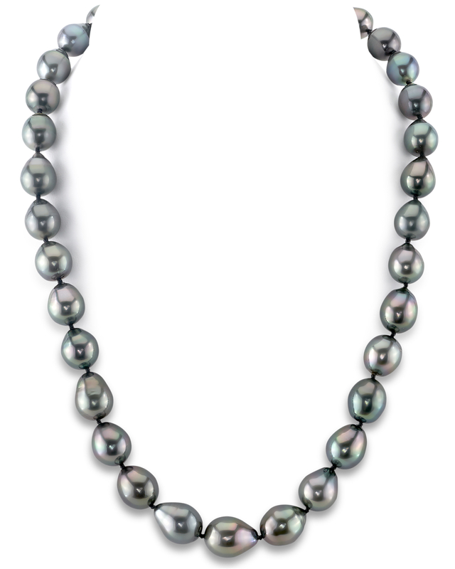 9-11mm Tahitian South Sea Drop Pearl Necklace - AAAA Quality