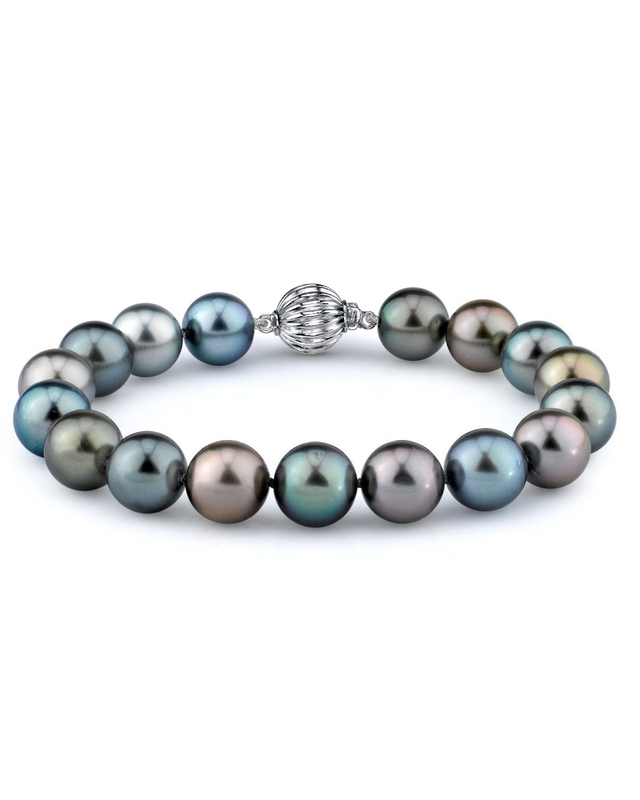 10-11mm Tahitian South Sea Multicolor Pearl Bracelet - AAAA Quality