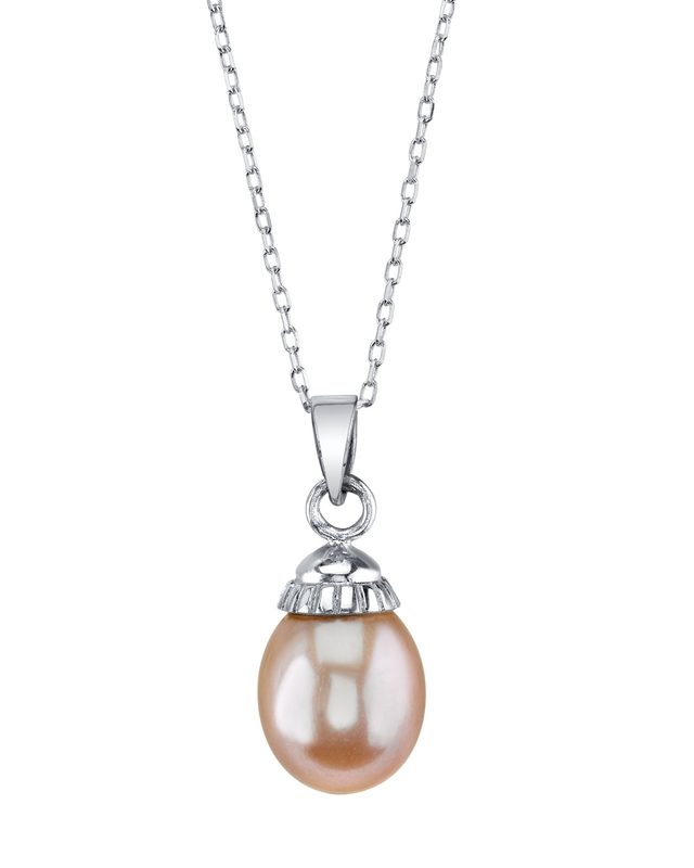 Pink Freshwater Cultured Pearl Devon Pendant