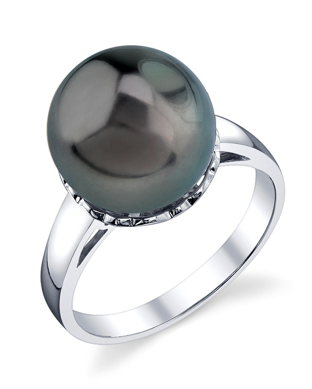 Tahitian South Sea Pearl Laurel Ring