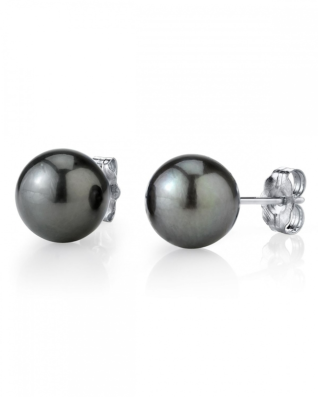 8mm Tahitian South Sea Pearl Stud Earrings- Various Colors