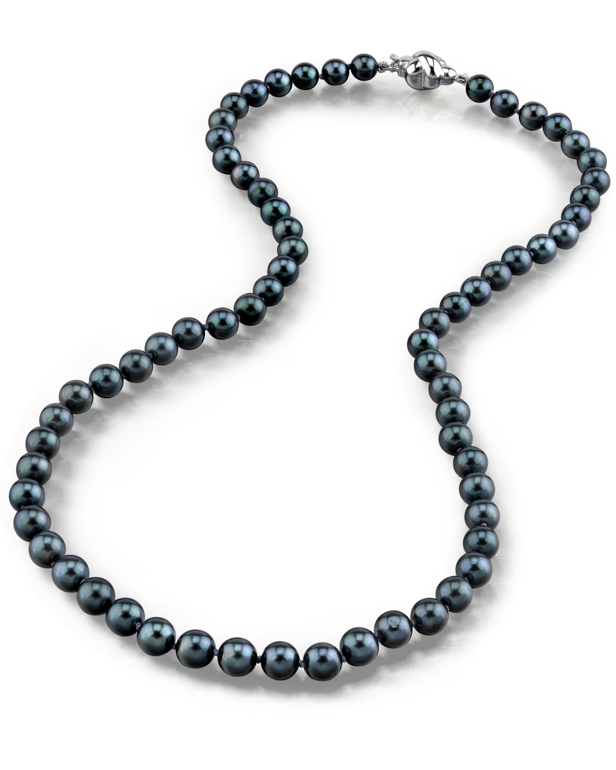 bd80d6c5b1c053 5.0-5.5mm Japanese Akoya Black Pearl Necklace - AAA Quality