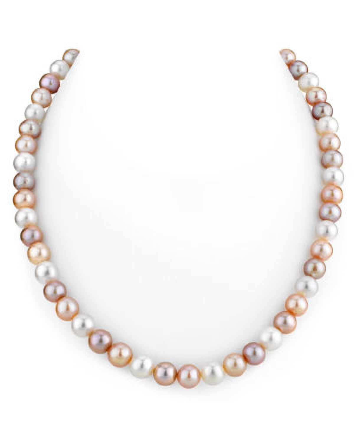 7-8mm Freshwater Multicolor Pearl Necklace - AAAA Quality