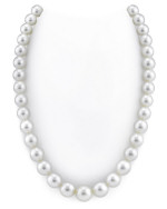 CERTIFIED 10-13mm White South Sea Pearl Necklace - AAAA Quality