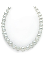 CERTIFIED 11-13mm White South Sea Pearl Necklace - AAAA Quality