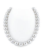 CERTIFIED 12-14mm White South Sea Pearl Necklace - AAAA Quality