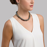 11-14mm Tahitian South Sea Pearl Necklace - AAAA Quality - Model Image
