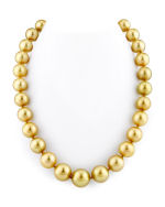 CERTIFIED 12-15mm Golden South Sea Pearl Necklace