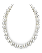 CERTIFIED 13-14mm White South Sea Pearl Necklace - AAAA Quality