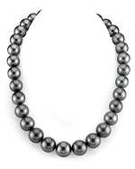 CERTIFIED 13-15mm Tahitian South Sea Pearl Necklace