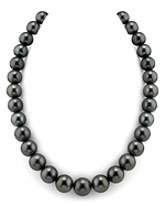 CERTIFIED 13-14mm Tahitian South Sea Pearl Necklace - AAAA Quality