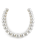 CERTIFIED 14-15mm White South Sea Pearl Necklace - AAAA Quality