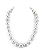 CERTIFIED 14-18.4mm White South Sea Pearl Necklace