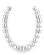 CERTIFIED 15-17mm White South Sea Pearl Necklace - AAAA Quality