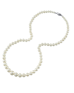 3.5-9.0mm White Freshwater Pearl Necklace